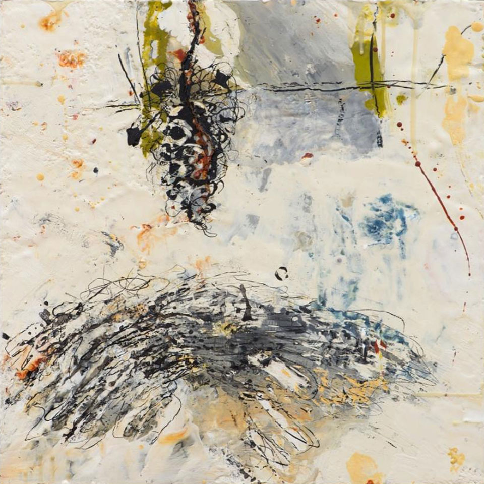 Appreciation for Perfection 1 - 16 in. x 16 in. - Encaustic Mixed Media on Panel