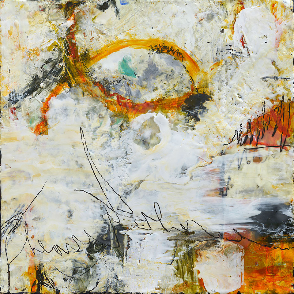 Changing Conditions 1 - 18 in. x 18 in. - Encaustic Mixed Media on Panel