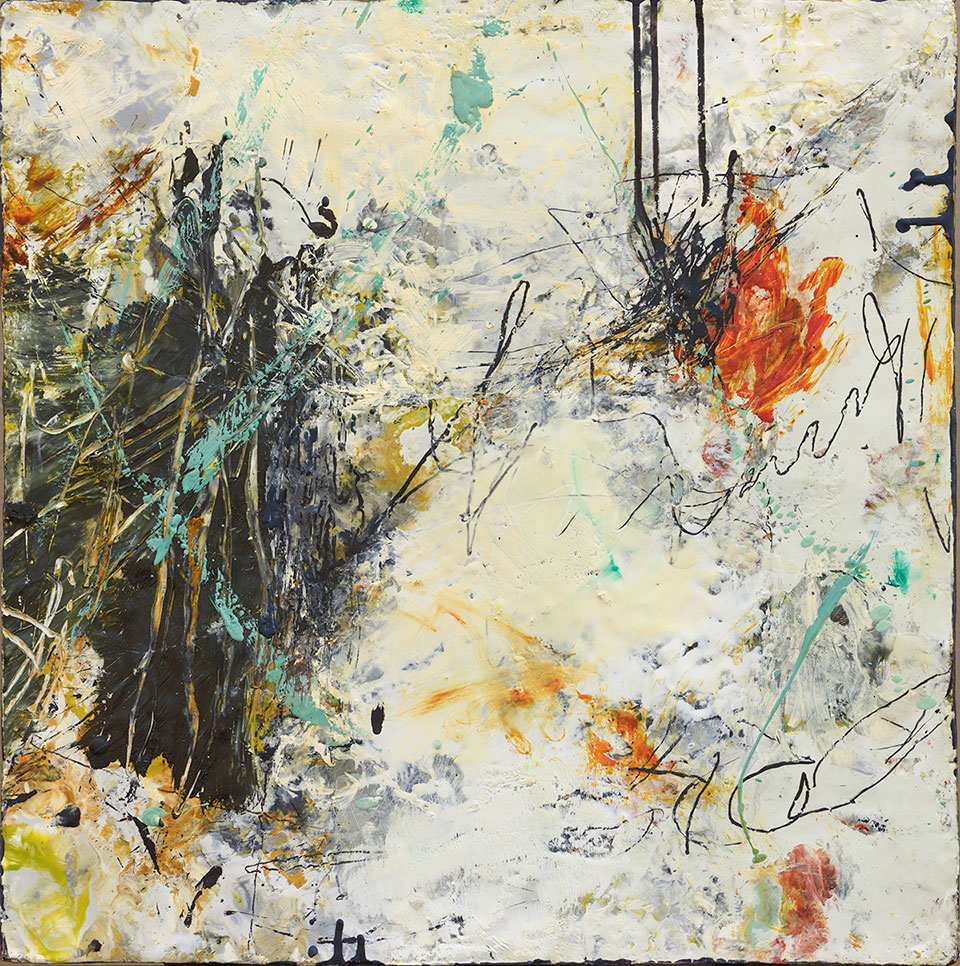 Changing Conditions 2 - 18 in. x 18 in. - Encaustic Mixed Media on Panel