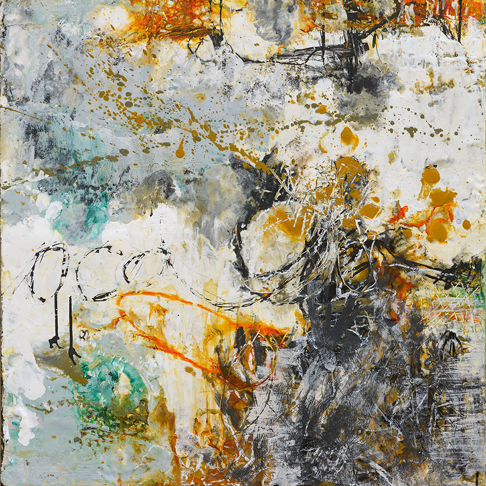 Changing Conditions 6 - 24 in. x 24 in. - Encaustic Mixed Media on Panel