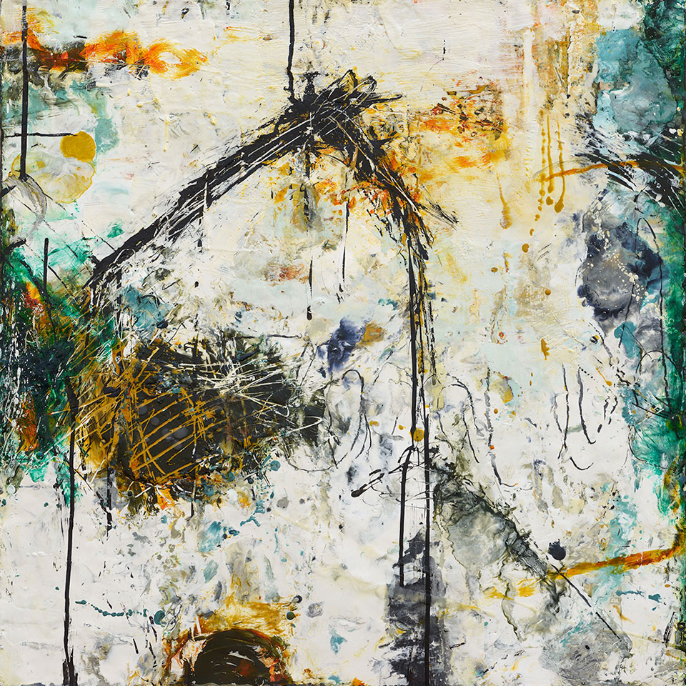 Changing Conditions 7 - 24 in. x 24 in. - Encaustic Mixed Media on Panel