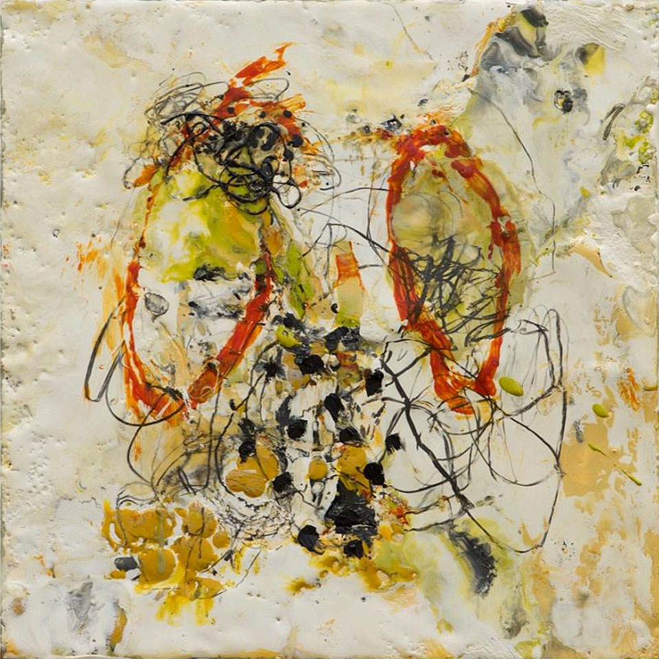 Natura 10 - 10 in. x 10 in. - Encaustic Mixed Media on Panel
