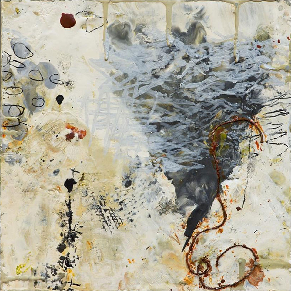 Natura 14 - 10 in. x 10 in. - Encaustic Mixed Media on Panel