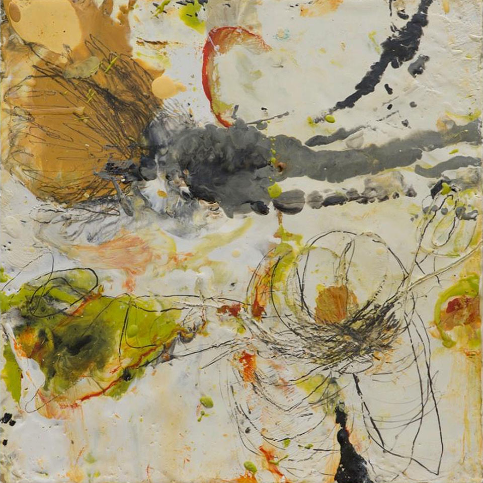 Natura 3 - 10 in. x 10 in. - Encaustic Mixed Media on Panel