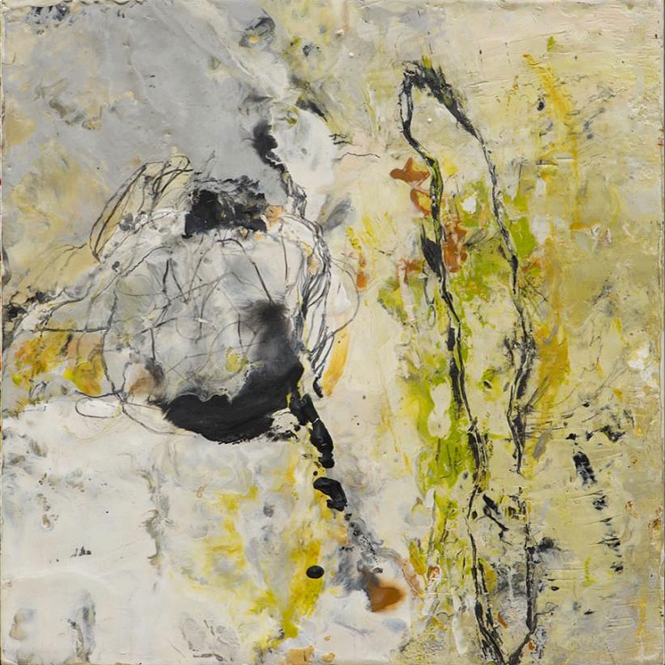 Natura 4 - 10 in. x 10 in. - Encaustic Mixed Media on Panel