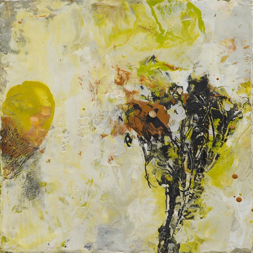 Natura 8 - 10 in. x 10 in. - Encaustic Mixed Media on Panel