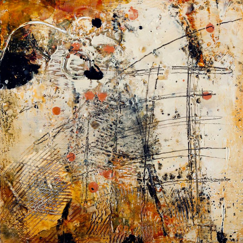 Pieces 1 - 16 in. x 16 in. - Encaustic Mixed Media on Panel
