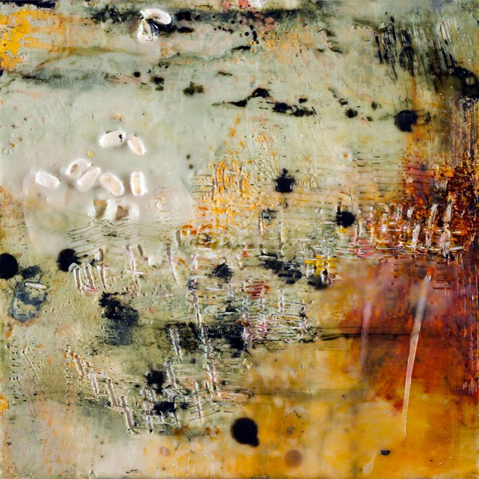 Pieces 5 - 16 in. x 16 in. - Encaustic Mixed Media on Panel