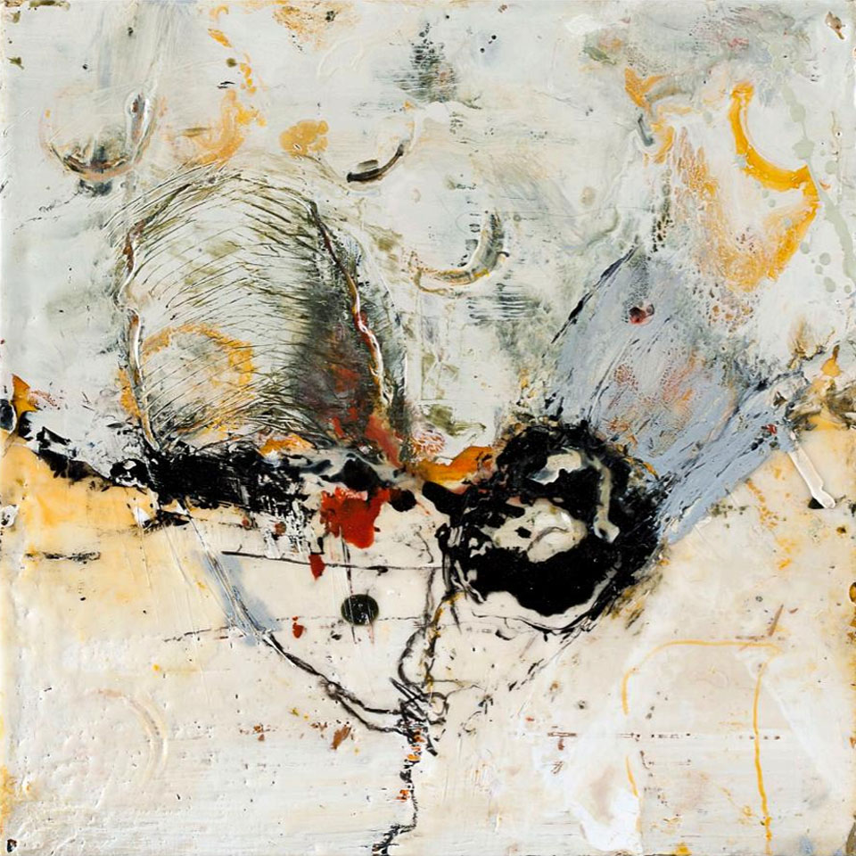 Pieces 7 - 16 in. x 16 in. - Encaustic Mixed Media on Panel