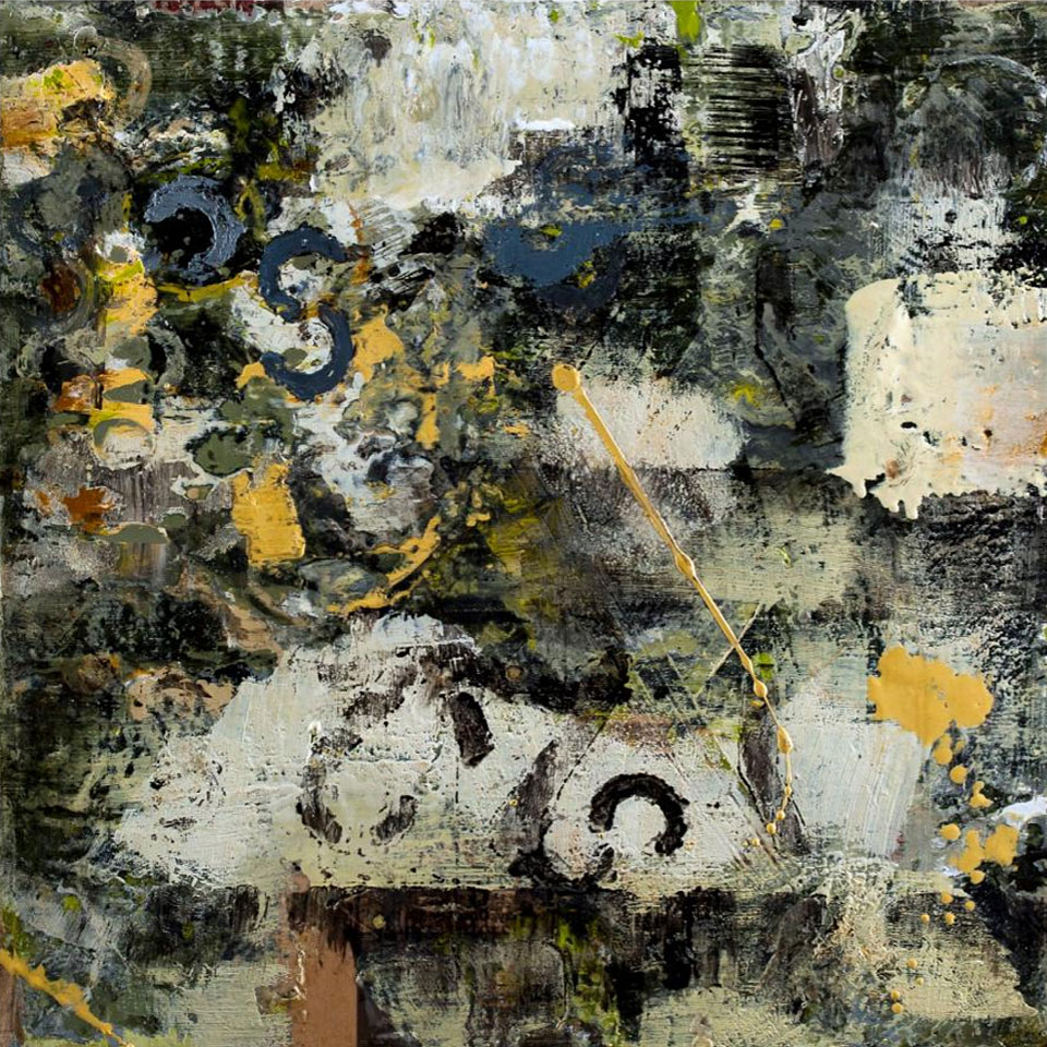 Ricochet - Encaustic Mixed Media on Panel